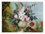 Still Life of Exotic Flowers in an Urn Giclee Print