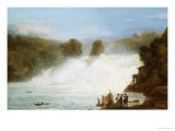 The Falls at Schaffhausen Giclee Print by Josef Stumpf