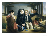 Travelling Second Class: The Parting Giclee Print by Abraham Solomon