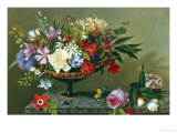 Still Life of Anemones and Roses Giclee Print by Adolf Senff