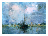 In the Environs of Rotterdam Giclee Print by Lucien Frank