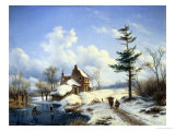 Clear Winter&#39;s Day Giclee Print by Cornelius Lieste