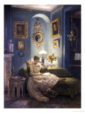Evening at Home Giclee Print by Edward John Poynter
