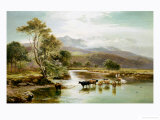 Cader Idris from the River Mawddach Giclee Print by Sidney Richard Percy