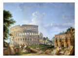 The Colosseum, Rome Giclee Print by Giovanni Paolo Pannini