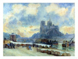 Notre Dame, Paris Giclee Print by Albert-Charles Lebourg
