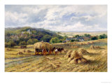 View of Lambourn, Berkshire Giclee Print by Henry Parker