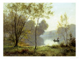 Late Summer Afternoon on the Lake Reproduction procédé giclée par Albert Gabriel Rigolot