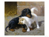 Best of Friends Giclee Print by Heinrich Sperling