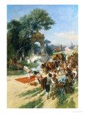 Travelling Circus Giclee Print by Emile Antoine Bayard