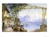 View of Lake Como, c.1867 Giclee Print by Edward M. Richardson