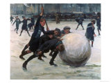 The Giant Snowball Giclee Print by Jean Mayne