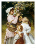 Picking Apples Giclee Print by Frederick Morgan