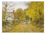 Autumn Lane Giclee Print by Edward Wilkins Waite