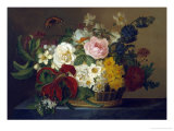 Still Life of Spring Flowers Giclee Print by Lucius Hermina Van Stipriaan