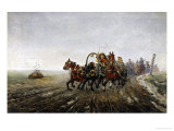 Ruissian Troops Overtaken by an Officer Giclee Print by Artur Wieloglowski
