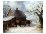 At the Blacksmith's Giclee Print by Thomas Smythe
