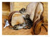 Kittens Playing Giclee Print by Frank Paton