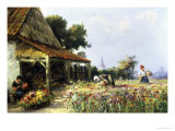 The Field of Flowers Giclee Print by William Bataille