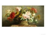 Basket of Pretty Flowers Giclée-Druck von Jean-Marie Regnier