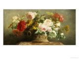 Basket of Pretty Flowers Giclee Print by Jean-Marie Regnier