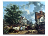 The Market Place, St. Albans Giclee Print by Henry Milbourne