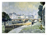 View of the Seine, Paris Gicléetryck av Paul Mathieu