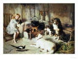 Waiting for Supper Giclee Print by Alfred Strutt