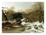 The Woodland Farm in Winter Giclee Print by Hopkins Horsley