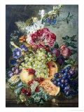 Fruechte und Blumen Giclée-Druck von Gerrit Jan Van Leeuwen