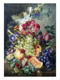 Fruit and Flowers Giclee Print by Gerrit Jan Van Leeuwen