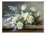Still Life with Yellow Roses Giclee Print by Raoul Victor Maurice Maucherat de Longpre