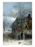 Collecting Firewood Giclee Print by Thomas Smythe