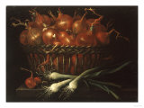 Still Life of Onions, Leeks and Shallots Giclee Print