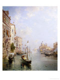 Le Grand Canal, Venise Reproduction procédé giclée par Franz Richard Unterberger