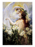 The Angel's Message Giclée-tryk af George Hillyard Swinstead