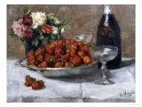 Still Life with Champagne and Strawberries Giclee Print by Isidor Verheyden