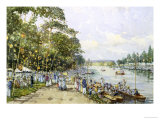Edwardian Summer, Henley Regatta, c.1908 Giclee Print by John Sutton