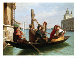 Musical Interlude on the Gondola Giclee Print by Antonio Paoletti
