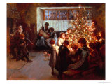 The Christmas Tree Giclee Print by Albert Chevallier Tayler