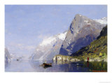 The Ice Blue Fjord Giclee Print by George Rasmussen