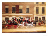 Mail Coaches Outside the Angel, Islington Giclee Print by James Pollard