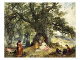 La Partie au Campagne Giclee Print by Alfred Joseph Woolmer