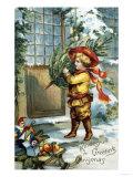 Kindest Greetings for Christmas Giclee Print