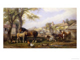 Farmyard in Herefordshire Giclee Print by Henry Brittan Willis