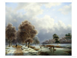 Bright Winter's Day Giclee Print by Gerardus Hendriks