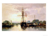 Boats at Anchor Giclee Print by Jules Achille Noel