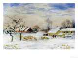 Snowy Pastures Giclee Print by Peter Ghent