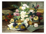 Roses from Nice Giclee Print by Eugene Henri Cauchois