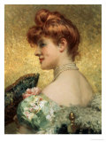 Beautiful Redhead Giclee Print by Eduardo Tofano